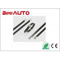 Buy cheap 5.6 X 300mm  PVC Coated Stainless Steel Cable Tie Absolutely Fireproof -40℃ ~ 85℃ from wholesalers