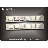China Kiosk Function Customizable panel mount keypad with 6 Keys , FCC wholesale