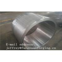 China JIS EN ASME ASTM Hydraulic Cylinder Bushing Sleeve Forged C45 4130 4140 42CrMo4 4340 Rough Machined And UT wholesale