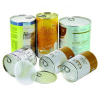 Air proof EZ open Paper Composite Rice Cans recycled round , gift tube packaging
