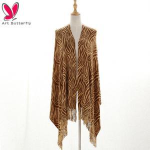 China warm acrylic print shawl for sale wholesale