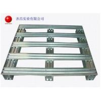 Buy cheap Cleanable Metal Storage Galvanized Steel Pallets Logistics Equipment QC1218 from wholesalers