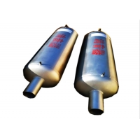 China SS304 Exhaust Specialised Pipe And Fittings , Dn50 Boiler Noise Silencer wholesale