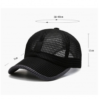China Black Color Breathable Adult Trucker Hats For Hot Weather wholesale