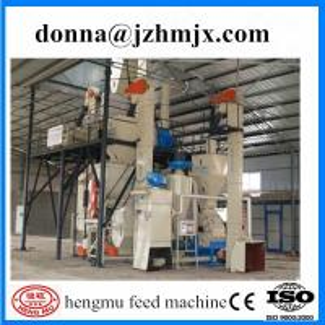 China Ex-factory high productivity pig feed production line/animal feed pellet production line wholesale