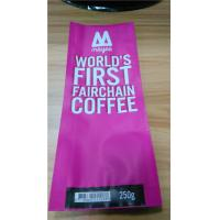 China Rose Side Gusset Coffee Bag Plastic Pouches Packaging With Customized Logo wholesale
