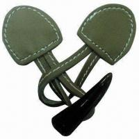 China Popular Frog Button for Coat/Garment, Made of Suede Material, with 2 Hole Toggles wholesale