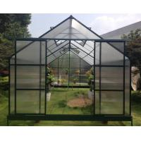 China Modular 6mm Polycarbonate Hobby Greenhouse Kits For Nursery With Double Sliding Door on sale