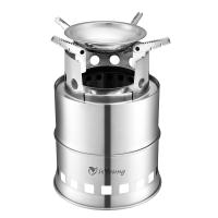 China Stainless Steel Wood Burning Camping Stove With 4 Flexible Non Slip Arm wholesale