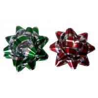 China Decoration Star Gift Wrap Bows Iridescent Metallic And Holographic Material wholesale