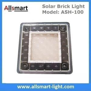 China 4x4 inch Solar Paver Lights Patio Solar Brick Lights Garden Landscaping Solar Underground Inground Lights wholesale