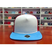 China ISO9001 Blue Bill Baseball 5 Panel Trucker Cap For Adults wholesale