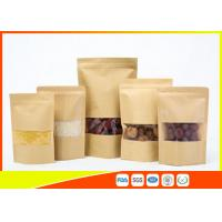 China Kraft Paper Coffee Bags / Resealable Food Packaging For Tea , Snack wholesale