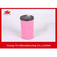 China 50 x 135 MM Metal Tea Tins With Lids , Pink Metal Storage Tins For Tea Packaging wholesale