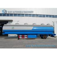 Transportation 48000L Q345 Mild Steel Oil Tank Trailer 3 Axle