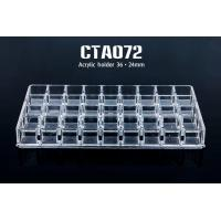 China Acrylic 36 Holes Transparent  Permanent Make Up Tattoo Ink Cup Holder wholesale