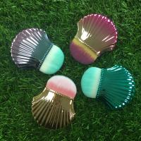 China Portable Shell Shape Makeup Foundation Brush Plastic Handle Material wholesale