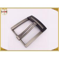 China Nickel And Lead Free Silver Plated Double Pin Belt Buckle For Man wholesale