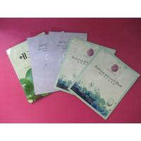 China Customized Cosmetic Packaging Bag with Tear Notch, Zip Lock For Facial Tissue wholesale