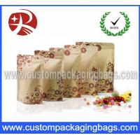 China Customized Printing Plastic Kraft Paper Food Packaging Bag With Zipper on sale