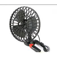 Quality Mini Black Plactic Vehicle Cooling Fans Dc 12v Portable 4 Inch With Adsorption for sale