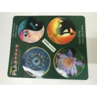 Quality Flip Effct 3D 0.6 MM PET Custom 3D Lenticular Stickers With CMYK Printing for sale