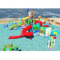 Quality Family Slide Theme Park Design Spiral / Straight Fun Interactive Water Rides for sale