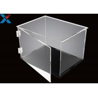 China Rectangle Acrylic Display Box Open Door Assembled Clear Dust Storage Box wholesale