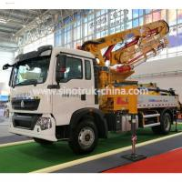 Quality 6 Wheels Concrete Pump Truck / Cement boom Truck With 125M3 / H High Output for sale