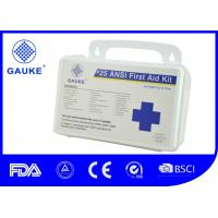 China Indoor OSHA ANSI First Aid Kit For Business Wall Mountable Small PP Case wholesale