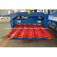 China Chain Drive Tile Roll Forming Machine With Hydraulic Pressing Cutting Devices on sale