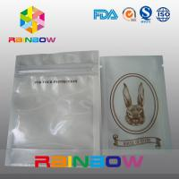 China Customized Logo Transparent Front Poly Zipper Bag For Electronic Packing wholesale