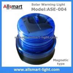 China Blue Solar Buoys Beacon Light With Magnet Emergency Instruction Magnetic Solar Lamp Temporary Cordon Light Model ASE-004 wholesale