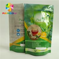 China Customized Aluminum Foil Stand Up Tea Bags Packaging Round Bottom Glossy Finish wholesale