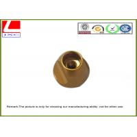 China Industrial Brass Precision Components , Machining Small Metal Parts Hub Deburr Finishing on sale