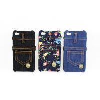 China Stylish jeans printing real Jean fabric materials genune iphone 4 protective cases --I4-06 wholesale