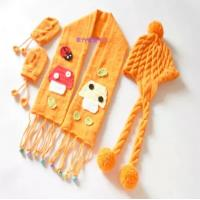 China Lovely hand knitting baby hats,scarf,gloves. on sale
