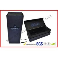 China Embossed / Spot UV Square Wine Packaging Boxes , Customized Printed Magnetic Wine Packaging Boxes wholesale