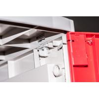 China Red 4 Tier Lockers With Keyless Lock , Staff Storage Lockers For Factory on sale
