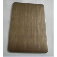 China 304 Chocolate Hairline Finish Ti-coating Colored Stainless Steel Sheet For Elevator Cabin wholesale