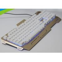 China High End Light Up Mechanical Gaming Keyboard , Slim Metal Mechanical Keyboard wholesale