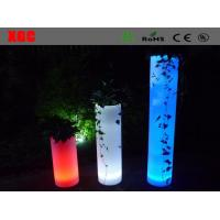 China Plastic Light Up Multi Colors Round  Led  Decorative Furniture For Outdoor wholesale