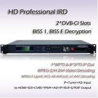 China Professional IRD DVB-S/S2 Receiver Mpeg-4 Decoding Digital TV System HD Decoder RIH1301 on sale