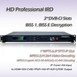 China RIH1301 Professional IRD DVB-S/S2 Receiver Mpeg-4 Decoding Digital TV System HD Decoder wholesale