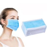 China High Filtration Disposable Earloop Face Mask Hypoallergenic 3 Ply Medical Mask wholesale