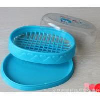 Plastic soap dish and box double layer with clear cover