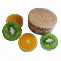 China Compressed towel, round shape compressed towel, fruit shape wholesale