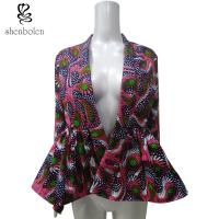 China Customized Size Female Latest Ankara Tops And Jackets With Two Side Pockets wholesale