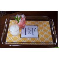 Quality Hotel High Clear Rectangle Welcome Tray / Hotel Guest Room Tray for sale