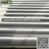 China AISI 316 Continuous Slot Wedge Wire Johnson Screen for Water/Oil Filter wholesale